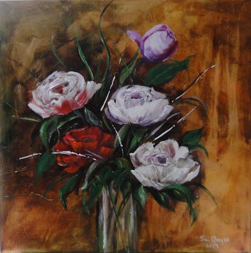 Susanne Geyer, Pfingstrosen, Still life, Plants: Flowers, Contemporary Art