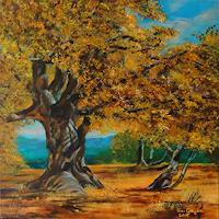 Susanne-Geyer-Landscapes-Autumn-Nature-Wood-Contemporary-Art-Contemporary-Art