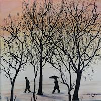 Susanne-Geyer-Miscellaneous-People-Landscapes-Winter-Contemporary-Art-Contemporary-Art