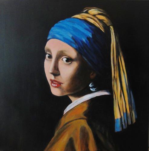 Susanne Geyer, Nach einem Bild von Vermeer, People: Women, People: Faces, Baroque