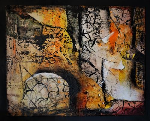 Susanne Geyer, The wall, Abstract art, Fantasy, Non-Objectivism [Informel]