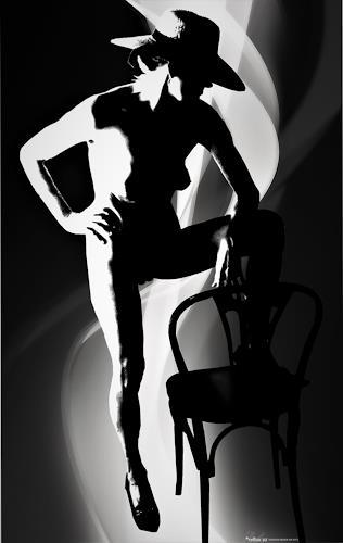 Leon4, Akt stehend, Erotic motifs: Female nudes, Pop-Art