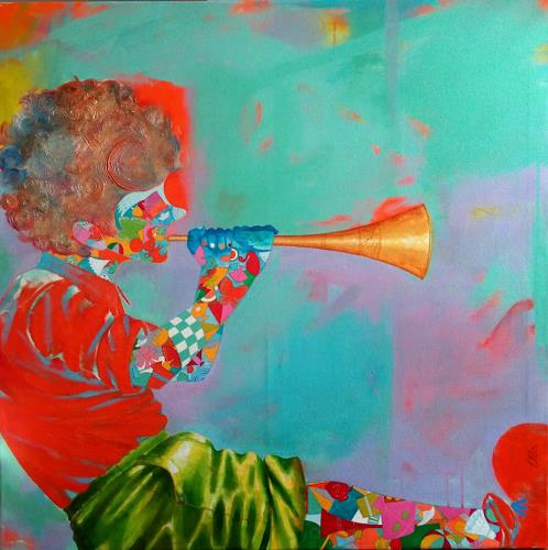 shivkumar soni, The childhood iii, Emotions, Nature, Contemporary Art, Expressionism