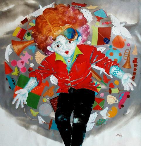 shivkumar soni, The aureole of childhood iii, Nature, Contemporary Art, Expressionism