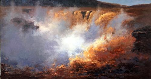 jingshen you, landscape 037, Landscapes, Decorative Art, Contemporary Art, Expressionism