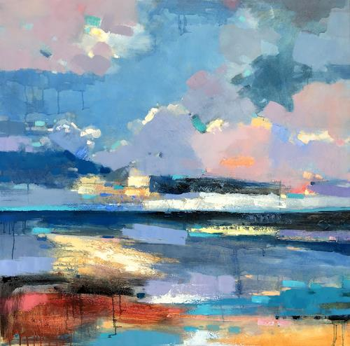 jingshen you, Colorful and mysterious sky 189, Landscapes, Decorative Art, Contemporary Art, Expressionism