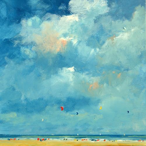 wim van de wege, Strand nach regnerischen Tagen, Landscapes: Sea/Ocean, Post-Impressionism, Expressionism