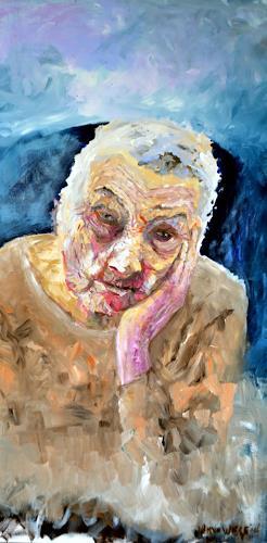 wim van de wege, Alzheimer Patient 2, People: Women, People: Portraits, Impressionism, Abstract Expressionism
