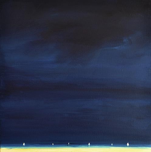 wim van de wege, Regatta on the Oosterschelde, Landscapes: Sea/Ocean, Impressionism, Abstract Expressionism