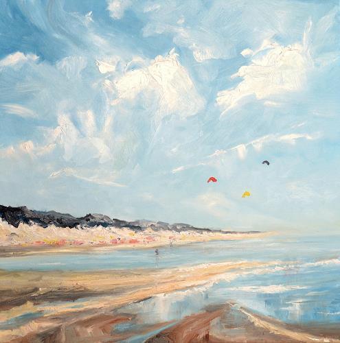 wim van de wege, Strand Zeeland 43, Landscapes: Beaches, Landscapes: Sea/Ocean, Impressionism, Expressionism