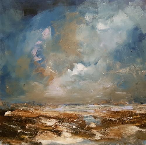 wim van de wege, Winter landschaft December 2016, Landscapes, Landscapes: Winter, Impressionism, Expressionism