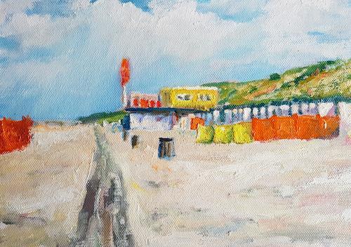 wim van de wege, Strand De Banjaard Zeeland, Landscapes: Sea/Ocean, Landscapes: Beaches, Impressionism