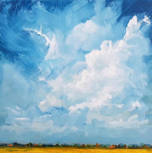 wim van de wege, Gelb Polder, Landscapes: Summer, Miscellaneous Landscapes, Impressionism, Abstract Expressionism