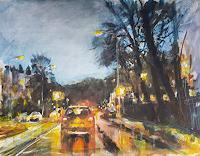 w. van de wege, Traffic in the evning