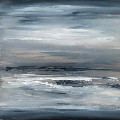 wim van de wege, Abstract winter landscape, Landscapes, Landscapes: Winter, Abstract Art, Expressionism