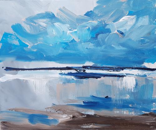 wim van de wege, Zeeland seascape study 1 wim van de wege, Landscapes: Sea/Ocean, Landscapes: Summer, Expressionism
