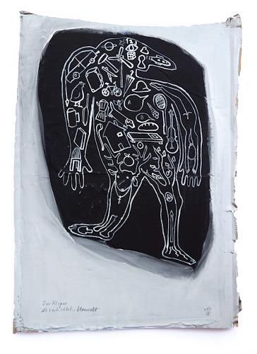 Victor Koch, Der Körper als verdichtete Umwelt, People: Men, Miscellaneous Interiors, Contemporary Art, Abstract Expressionism