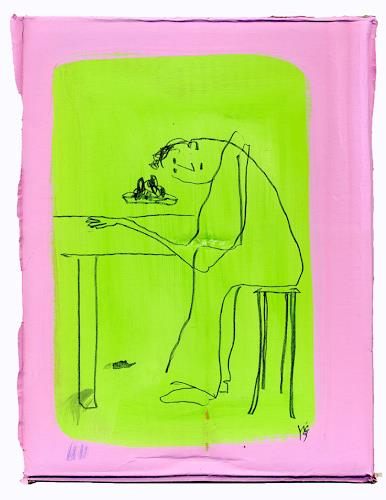 Victor Koch, Iss was Gescheites, People: Men, Meal, Contemporary Art