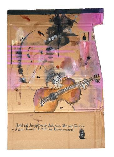 Victor Koch, Geh zupfen, People: Men, Music: Instruments, Contemporary Art