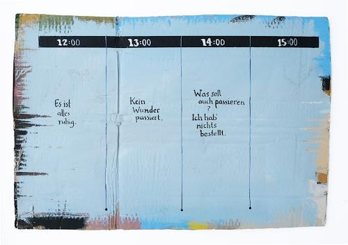 Victor Koch, Sieben vor vier, Abstract art, Times: Future, Contemporary Art, Expressionism