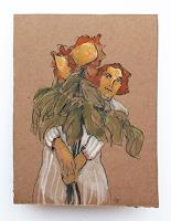 Victor-Koch-People-Women-Plants-Flowers-Contemporary-Art-Contemporary-Art