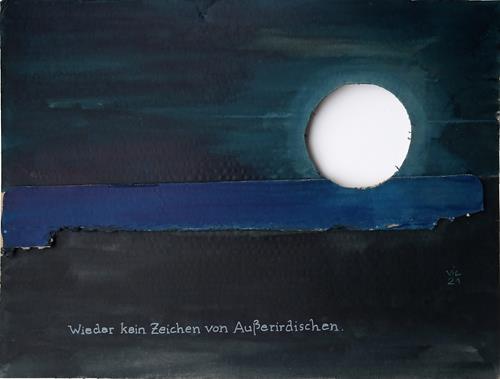 Victor Koch, Der Künstler teilt seine Beobachtung mit, Miscellaneous Landscapes, Fairy tales, Contemporary Art, Expressionism