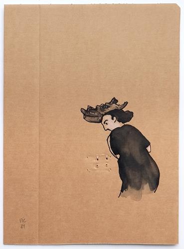 Victor Koch, Störendes auf dem Weg nach Geradeaus, People: Women, Emotions: Aggression, Contemporary Art, Abstract Expressionism