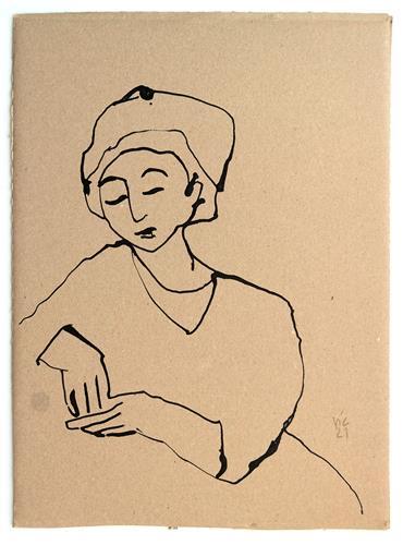 Victor Koch, Aushalten, People: Women, Emotions: Fear, Contemporary Art