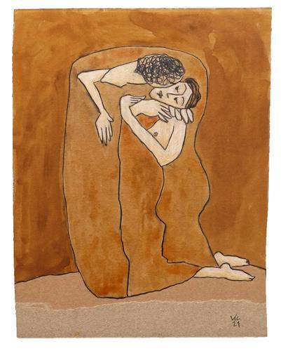 Victor Koch, Galeristenpaar 3, People: Couples, Emotions: Joy, Contemporary Art