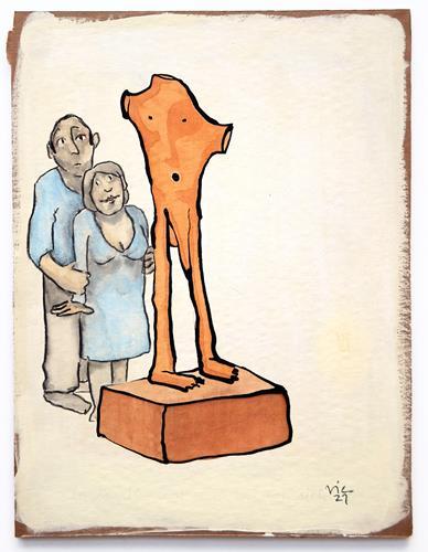 Victor Koch, Galeristenpaar 4, People: Couples, Emotions: Joy, Contemporary Art