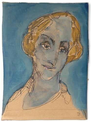 Victor Koch, Skizze, lächeln, People: Women, Emotions: Joy, Contemporary Art