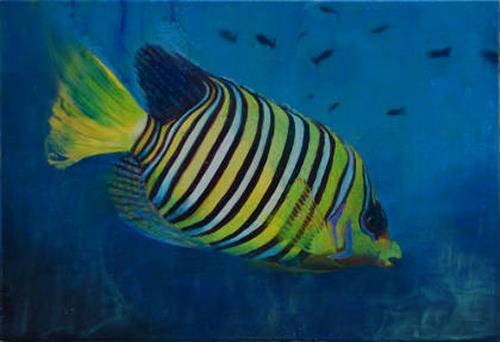Edna Rasch, Fisch, Nature: Water, Animals: Water, New Figurative Art, Expressionism