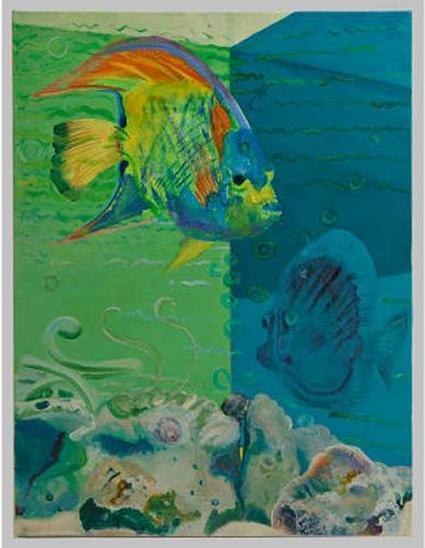 Edna Rasch, Aquarium, Animals: Water, Architecture, New Figurative Art