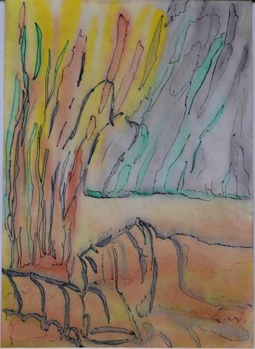 Veronika Ulrich, Zugang zur Unterwelt, Abstract art, Abstract Art