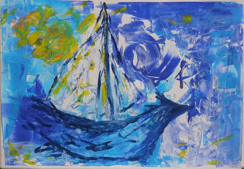 Veronika Ulrich, Seereise, Leisure, Nature: Water, Abstract Expressionism