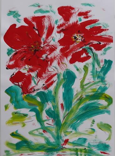 Veronika Ulrich, Blumen III, Plants: Flowers, Abstract Expressionism