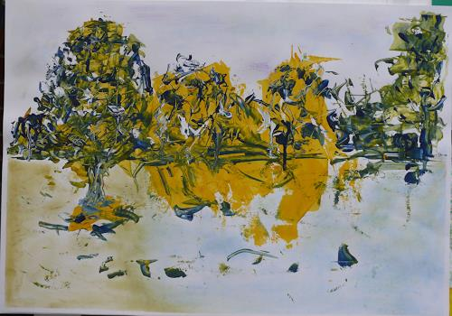 Veronika Ulrich, Am See, Landscapes: Sea/Ocean, Abstract art, Abstract Expressionism