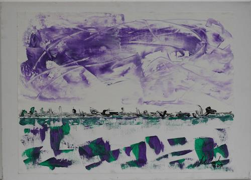 Veronika Ulrich, zu Hause, Landscapes: Sea/Ocean, Abstract art, Abstract Expressionism