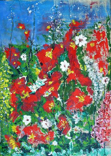 Veronika Ulrich, Sommerwiese, Plants: Flowers, Abstract Expressionism
