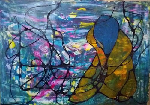 Veronika Ulrich, die Nachdenkliche, People: Women, Abstract art, Abstract Expressionism, Expressionism