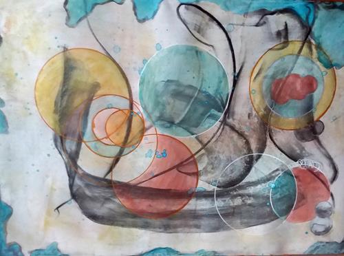 Veronika Ulrich, zur Ruhe gekommen, Fantasy, Abstract art, Abstract Expressionism