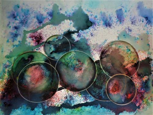 Veronika Ulrich, Welten, Abstract art, Abstract Expressionism