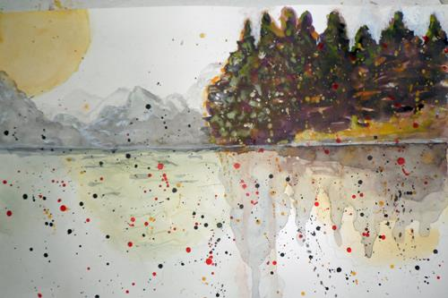 Veronika Ulrich, Sehnsucht, Landscapes: Mountains, Nature: Earth, Expressive Realism