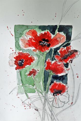 Veronika Ulrich, der Frühling kommt, Plants: Flowers, Expressive Realism, Expressionism