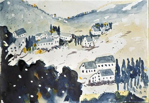 Veronika Ulrich, Fernweh akut, Landscapes: Mountains, Expressive Realism