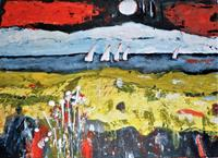 Veronika-Ulrich-Landscapes-Sea-Ocean-Nature-Water-Modern-Age-Expressionism-Abstract-Expressionism