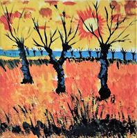 Veronika-Ulrich-Landscapes-Plains-Abstract-art-Modern-Age-Expressionism-Abstract-Expressionism