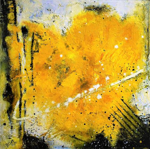 Christine Blum, Gelbes Herz, Abstract art, Abstract Art, Expressionism