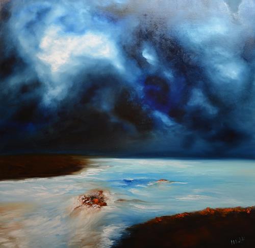 Niki Katiki, River, Landscapes: Sea/Ocean, Abstract art, Expressionism, Abstract Expressionism