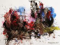 Ruediger-Philipp-Fantasy-Abstract-art-Modern-Age-Abstract-Art-Non-Objectivism--Informel-